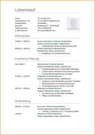 Lebenslauf Aktuelle Vorlage Reimbursement Format