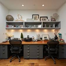 two desk home office. Beautiful Two 30 Shared Home Office Ideas That Are Functional And Beautiful  Home Office   Studios Pinterest Desks Desks And Spaces Intended Two Desk W