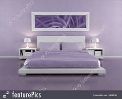 Lilac Bedroom Interior Architecture Lilac Bedroom Stock Illustration I3186054