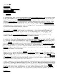 Gallery Of Health Sciences Open Cover Letters Sample Cover Letter