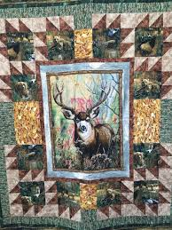 349 best wildlife quilts images on Pinterest | Wildlife quilts ... & Hunting Quilt with Animals by EPParadeQuilts on Etsy Adamdwight.com