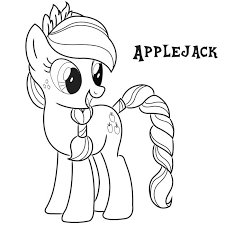 Applejack Coloring Page Pages My Little Pony Princess Cadence Printab