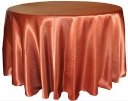 copper satin 120 round