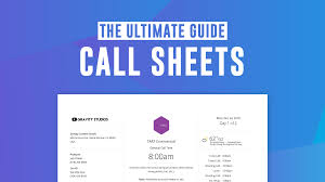 Free Tv Film Call Sheet Templates Make A Pro Callsheet In