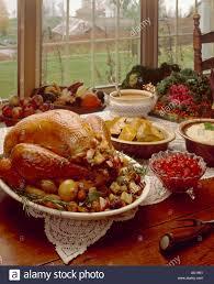 thanksgiving turkey dinner table. Exellent Dinner Thanksgiving Table Setting Turkey Dinner Stock Photo In T