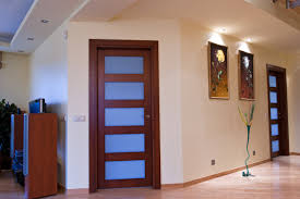 interior wooden doors with 5 glass panel