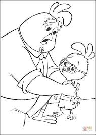 Small Picture Father Cares About Chicken Little coloring page Free Printable