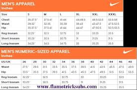 Nike Converse Size Chart Nike Joggers Pants Flametricksubs Com