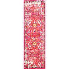 nuloom distressed fl anabel pink 3 ft x 8 ft runner rug