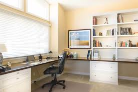 large desks for home office. Spacious Home Office With Large L-Shaped Built-In Desk Desks For P