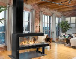 Lucius 140 Room Divider MKII Gas Fireplace installations.