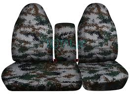 ford f 150 60 40 high back green digital camo seat covers