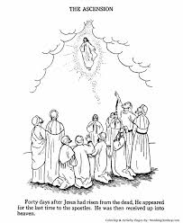 Small Picture Easter Bible Coloring Pages Jesus ascends to heaven HonkingDonkey