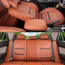custom made sheepskin car seat covers autodecorun car seat pu leather for toyota land cruiser seat