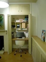 Hideaway Home Office in Cupboard
