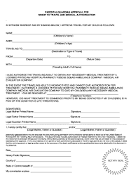 child travel with one parent consent form form parental consent fill online printable fillable blank