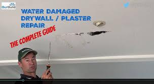 repair drywall ceiling water damage. Exellent Ceiling How To Repair A Water Damaged Plasterboard  Drywall Ceiling In Damage I