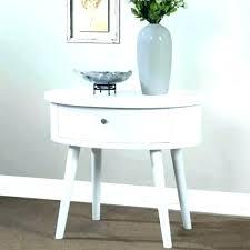 round nightstand with drawer round night table side tables white bedside table with drawers within round