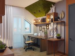 industrial style home office. Style Home Office Using Raw Brickwork And Concrete, Rustic Upcycled Wood Furniture, Ingenious Desks That Use Repurposed Industrial Metal Some Cool