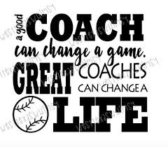 Great Coach Quotes Fascinating Great Coach SVG Baseball Coach Svg Tee Ball Coach Svg Softball