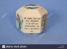 Decorated Money Box Wedgewood money box decorated with excepts from Beatrix Potter's 33