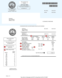 City Of Tallahassee Utility Example Utility Bill City Of Tampa
