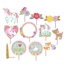 magical unicorn wall decoration kits with photo props 6 pkg 17
