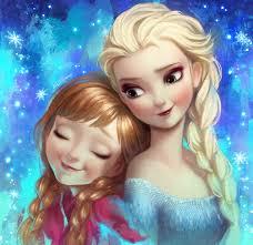 frozen elsa and a fan art by angju