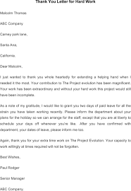 Thank You For The Hard Work Letter Download Employee Thank You Letter Templates For Free