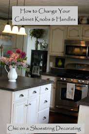Kitchen Cabinets Pulls Chic On A Shoestring Decorating How To Change Your Kitchen