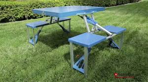 outsunny new outdoor picnic table portable folding camping with case seats