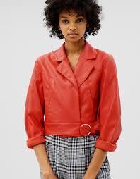 faux leather jacket bershka bershka 25 99 18 19