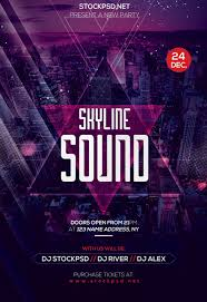 Freepsdflyer | Skyline Sound Free Party Flyer Template For Photoshop