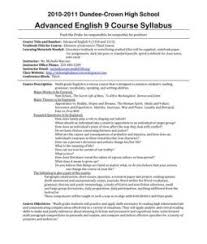 Syllabus Sample Template Sample Syllabus With Great Policies 10 11 Syllabus For