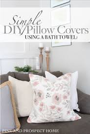 diy bath towel pillow cover