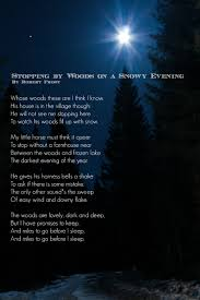 poetry robert frost poem stopping by woods on a snowy evening