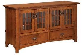 Amish Mission Rustic TV Stand Plasma Flat Screen Cabinet Storage ...