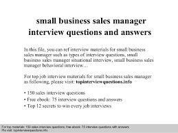 interview questions and answers free download pdf and ppt file small business sales manager small business manager job description