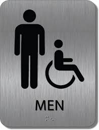 mens bathroom sign png. Get The Great Look Of Brushed Metal At A Fraction Cost! Mens Bathroom Sign Png