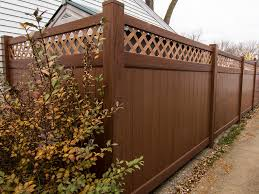 brown vinyl fence panels. Wonderful Fence 7 Foot Tall Mocha Walnut Privacy Fence Throughout Brown Vinyl Fence Panels