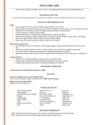 Assistant Designer Resume Shelia Jones Interior Design Resume Linked In