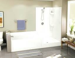 open shower stalls. Plain Shower Doorless Shower Stall Built In Small Tub And White  With Throughout Open Shower Stalls A