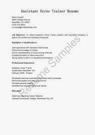 resume samples assistant horse trainer resume sample assistant horse trainer resume sample