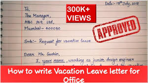 How To Write Leave Letter Application How To Write Leave Letter To Manager Vacation Leave Letter