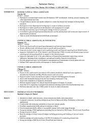 Clinical Research Associate Job Description Resume Clinical Trial Associate Resume Samples Velvet Jobs 66