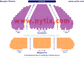 Marquis Theatre Seating Chart Marquis Theatre Seating Chart Seating Charts Theater