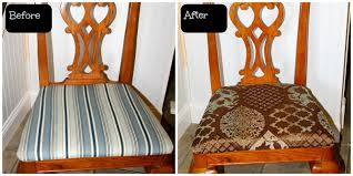 replacing the fabric on dining room chairs