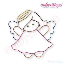 Oct - Dec - Simple Christmas Angel Embroidery Design - Small on sale now at  Embroitique