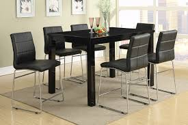 brilliant decorating black dining table set soros bistro home tall dining room chairs designs
