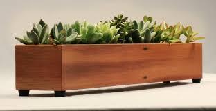 modern wood planter  home design styles